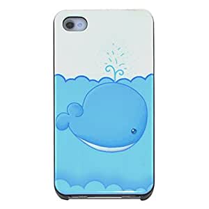 Nsaneoo - Cute Whale Pattern Hard Case for iPhone 4/4S