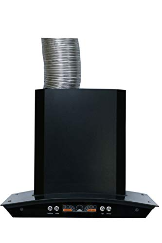 600 MM Wall Mount Kitchen Chimney with Bluetooth Connectivity, Copper Motor & Metal housing