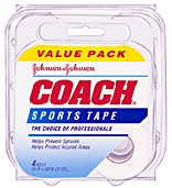Johnson & Johnson Coach Sports Tape, 4 Count