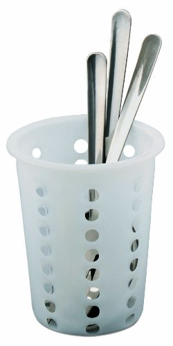 - Alegacy 80104 Restaurant Style Plastic Flatware Cylinder, 5.25-Inch by 4.25-Inch, White