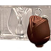 Fat Daddio's PCMM-35 Rose Magnetic Polycarbonate 7-Piece Chocolate and Candy Mold Making Tray