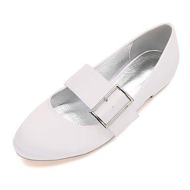 RTRY Las Mujeres'S Wedding Shoes Confort Satin Primavera Verano Boda Vestido De Noche &Amp; Rhinestone Bowknot Champán Heelivory Plana Rubí Azul US11.5 / EU43 / UK9.5 / CN45