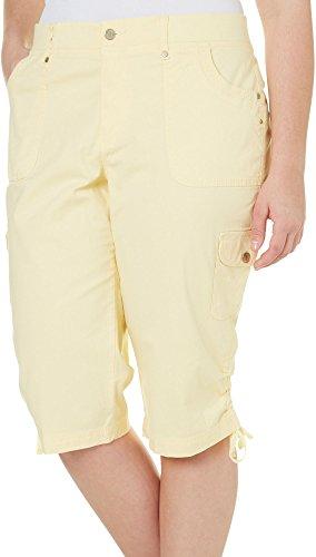 Gloria Vanderbilt Plus Lana Cargo Skimmer Capris 24W Dandelion yellow ()