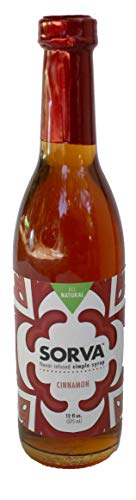 SORVA All-Natural Simple Syrup (Cinnamon) - Goes great with coffee, tea, bourbon, or spiced rum drinks