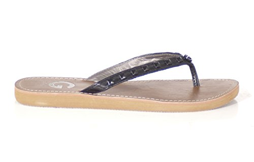 G by GUESS Women's Kendrah Studded Flip Flops Sandals, Black, Size 6m