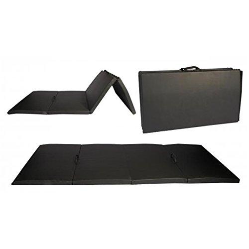 Black Folding Gymnastics Mat Aerobics Panel Thick Fitness Stretching - Guide Comparison Wetsuit