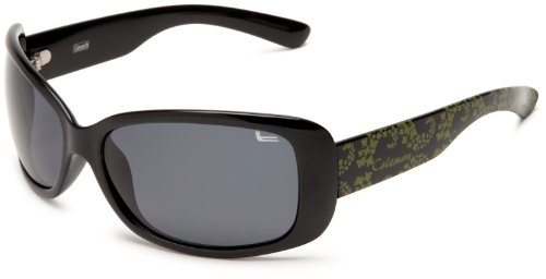 Coleman Women's CC1 6023 Polarized Sunglasses,Black and Green Frame/Smoke Lens,one - Sunglasses Gucci Carrera