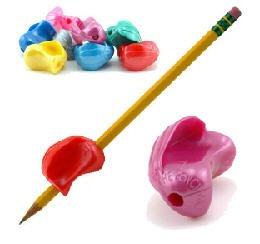 The Pencil Grip Crossover Grip- Metallic Colors- Set of 4- Assorted Colors - Crossover Pencil Grip