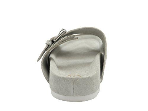 Ash UP - sandalias abiertas de piel mujer plata