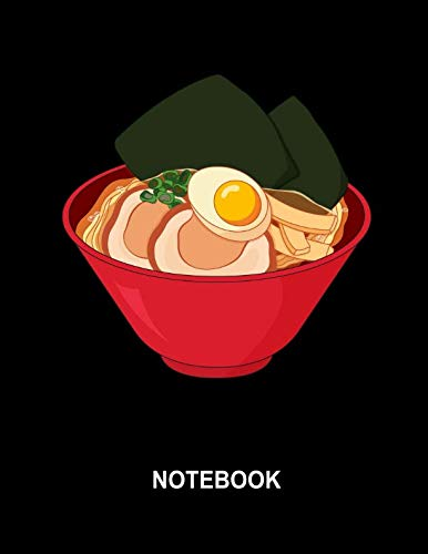 Notebook. Ramen Noodle Cover Design. Blank Lined College Ruled Notebook Planner Journal Diary. by BBD Gift Designs