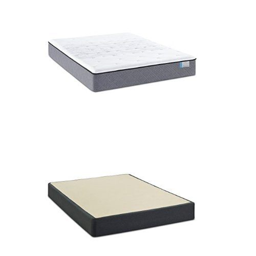 Sealy Posturepedic Drakesboro Firm Tight Top Mattress, Queen with Posturepedic Series 9-Inch Foundation