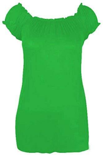 Recente Boho Da Donna Forti Taglie Il Nuovo Elasticizzato Verde Più Lungo Riddledwithstyle Maglia Gitana 61wtxqY