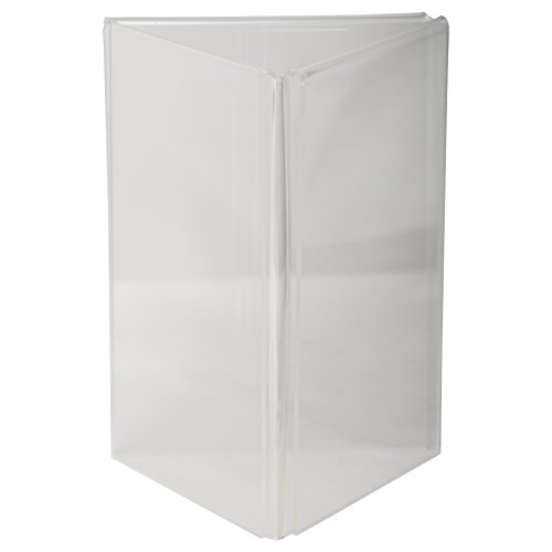 Clear-Ad - LHE-46 - Acrylic 3-Sided Table Tent Menu Holder 4x6 (Pack of 40) (Halloween Menu Items)