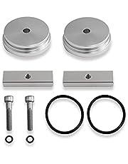Ktoyols 1pc Cummins Billet Aluminum Freeze Plug Kit Replacement for Diesel 5.9L 12v/24v 89-07