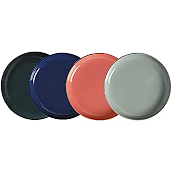 8.1-Inch Porcelain Deep Dinner Plates Set Pizza Pasta Serving Glaze Plates Dessert Dishes Set of 4