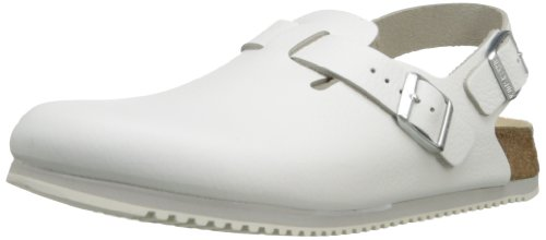 Birkenstock Professional Tokyo Super Grip Leather, White, 40 N EU/7-7.5 N US Men/ 9-9.5 N US Women