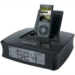 Memorex Clock Radio with iPod Dock (Black)