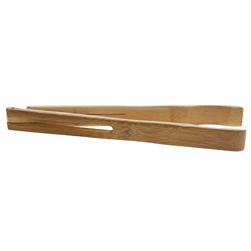 FOH Natural Bamboo Narrow Salad Tongs - 12''L by Hubert