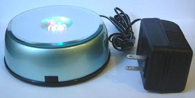 4 Led Light Stand Turntable Night Light Rotating Base For