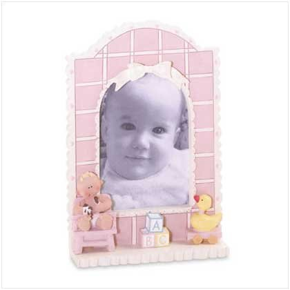 (Gift Warehouse Baby Girl Quilt Photo Frame - Style 36291)