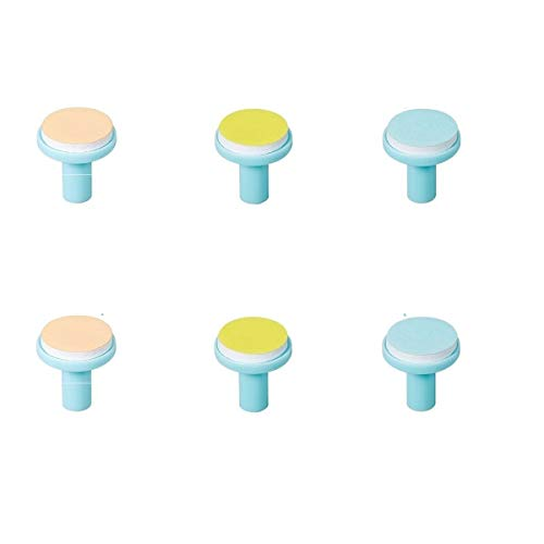 Nail Trimmer Replacement Heads - Replacement Pads for Electric Baby Nail Trimmer - Jaybva 6PCS Replacement Grinding Heads Polish Disc for Standard Nail File Clippers and Cutter Kit Blue