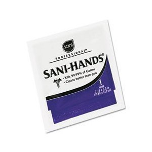 Sani-Hands Hand Sanitizer Wipes 100 Packets Per Box by Sani Professional