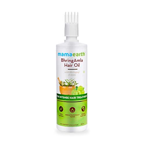 Mamaearth Bhringamla Hair Oil with Bhringraj and Amla for Intense Hair Treatment (250ml)