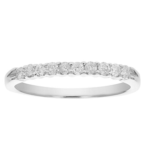 Vir Jewels 1/4 cttw Diamond Wedding Band in 14K White Gold In Size 9.5