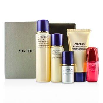 Shiseido Vital-Perfection Set: Cleansing Foam 50ml + Softener 75ml + Emulsion 30ml + Ultimune Concentrate 10ml + Serum 10ml 5pcs