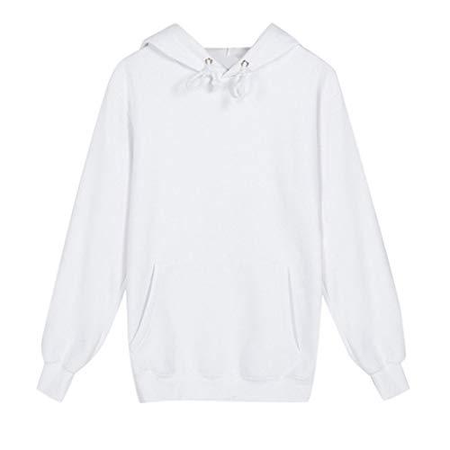 [해외]VESNIBA LLC Sweater Men`s Autumn Solid Color Multicolor Hoodie Casual Fashion Long Sleeve / VESNIBA LLC Sweater Men`s Autumn Solid Color Multicolor Hoodie Casual Fashion Long Sleeve White
