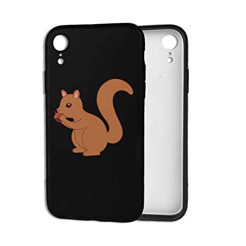 Squirrels Eat Pine Nuts iPhone XR Case Durable Phone Case TPU Anti-Scratch Shock Absorption Cover Case for iPhone XR