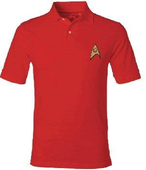 Star Trek Starfleet Uniform Adult Engineering Red Polo Shirt (Adult X-Large) (Star Trek Enterprise Uniform)