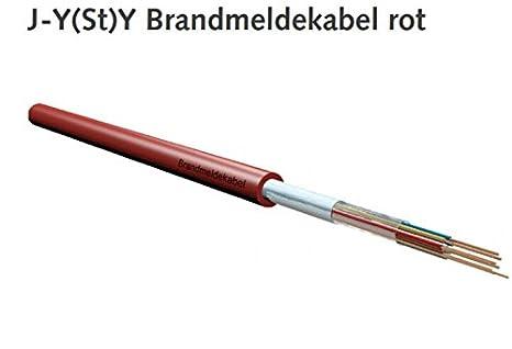 BMK JYSTY - Cable para detector de incendios (2 x 2 x 0,8, 100 m), color rojo: Amazon.es: Industria, empresas y ciencia