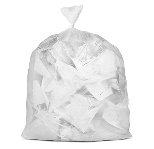 - Plasticplace 55-60 gallon Trash Bags │ 16 Microns │ Clear High Density Garbage Can Liners │ 38