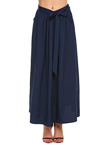 Women'S High Waist Lightweight Length Maxi Skirt With Stretchy - Lightweight Skirt Womens