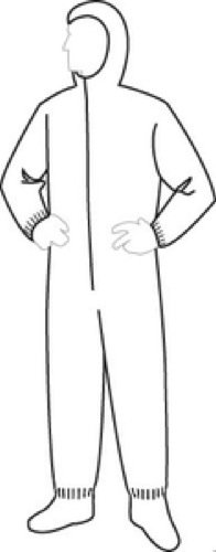 Dupont™ Tyvek® Hooded Coverall W/Hood/Boots, Xl TY122S/XL