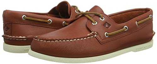 Sperry Men's A/O 2-Eye Leather Sneaker, Red, 16 Medium