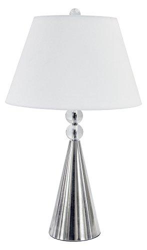 (1Lt Crystal Table Lamp Satin Chrome Finish)