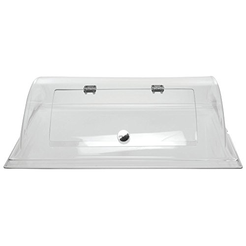 Cal-Mil Rectangular Clear PETG Dome Cover with Door - 26''L x 20''W x 7 1/2''H by ALC