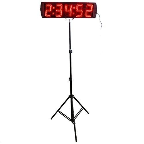 BTBSIGN 5'' 5Digits Portable LED Sport Timing Race Clock For Marathon Running Events