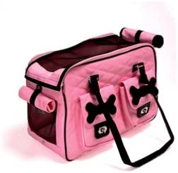 HOW S YOUR DOG Urban Hipster Weather-proof Travel Pet Carrier Carry-on Tote – Pink