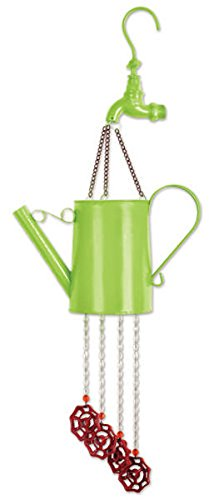 - Sunset Vista Designs Green Watering Can Wind Chime, 26