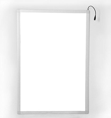 LYSIM LED Super Slim Snap Frame Backlit Display for Menu Movie Poster Portrait Picture (A2, Silver)