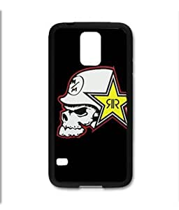 Samsung Galaxy S5 SV Black Rubber Silicone Case - Rock Star Metal Mulisha Skull FMX