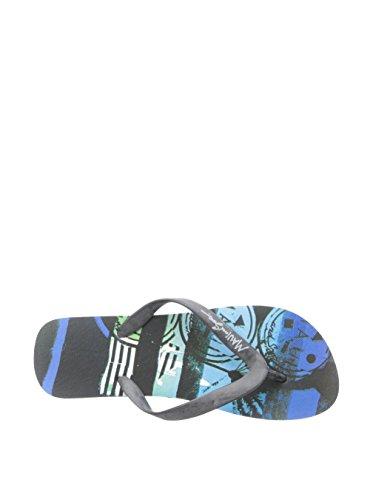 Maui Och Söner Mens Grafisk Glid Vippor Blå 9