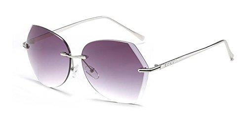 Gradient vintage polarisées métallique style cercle lunettes retro soleil du Lennon inspirées en Gris rond de AUOqg