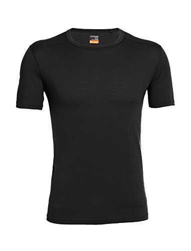 Icebreaker Merino Men's Oasis Short Sleeve Crewe T-Shirt, Black, X-Large (Oasis Icebreaker)