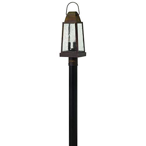 Hinkley 1771SN Sedgwick - Three Light Outdoor Post, Sienna Finish with Clear Seedy Glass