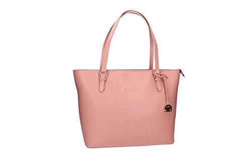 Pam Shop Tasche damen schulter PIERRE CARDIN pink in leder MADE IN ITALY VN2273