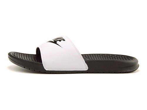 [ナイキ] NIKE レディース メンズ ベナッシ ジャストドゥイット スポーツ スライド サンダル 白 黒 軽量 クッション性 カジュアル デイリー コンフォート BENASSI JUST DO IT 343880